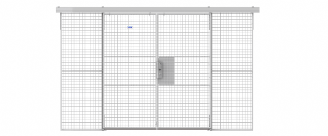 Double Sliding Door Mesh Partitioning  - Price Upon Request